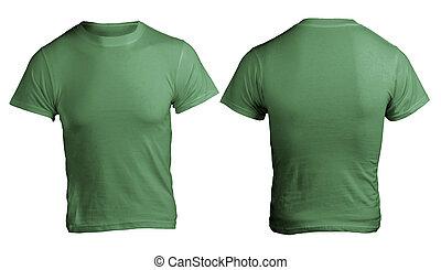 Men's Blank Green Shirt Template