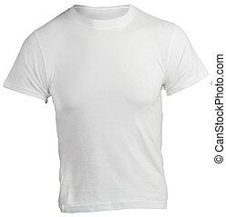 Men's Blank White Shirt, Front Design Template