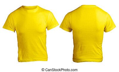 Men's Blank Yellow Shirt Template