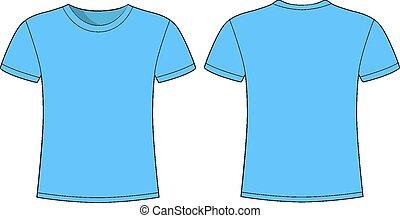 men's blue short sleeve t-shirt des