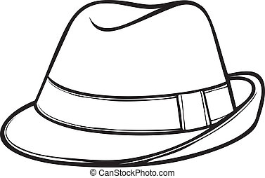 (men's, clássicas, chapéu, fedora, fedora)