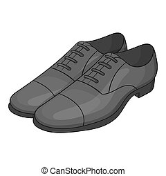 Mens classic shoes icon, cartoon style