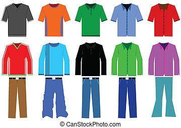Men?s clothes illustration