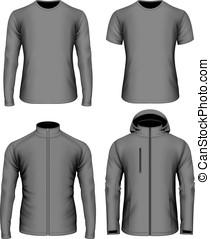 Mens clothes vector collection black