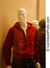 Mens Clothing Store - Manikins In A Clothes Store