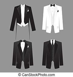 men's-dress-code - Dress code for men - male costume: tails...