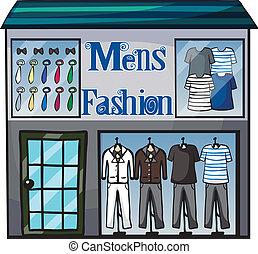 Mens fasion shop - Illustration of mens fasion shop on a ...