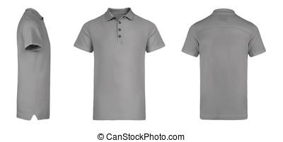 Men's Grey Polo Shirt multiSides Template