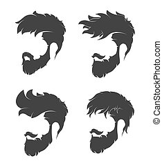 hairstyle with a beard and mustache