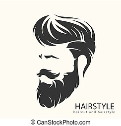 mens hairstyle with a beard and mustache - mens hairstyle...