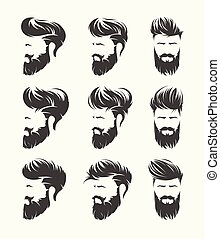 mens hairstyles hirecut with beard mustache face - mens...