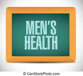 mens health sign message illustration design
