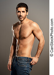 mens health - Portrait of a sexy young man with perfect...
