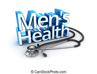 Men's Health text, medicine 3d Concept