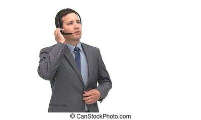 mens het spreken, headphones, boos