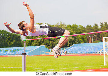 men's high jump, sports background