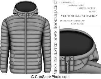 Vectors of Men work hooded jacket. Vector illustration csp24892330 ...