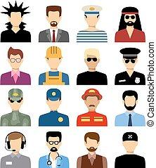 Men's isolated avatars