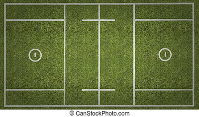 Mens Lacrosse Playing Field with Vignette - An overhead view...