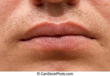men's lips