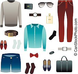 Mens look, shoes, accessories.