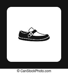 Mens moccasin icon, simple style