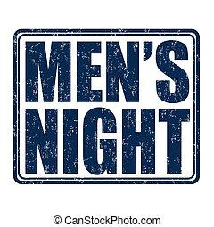 Men's night stamp