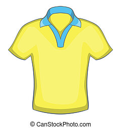 Mens polo icon, cartoon style
