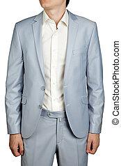 Mens Prom dress suit, Light Blue Pastel blazer and trousers.