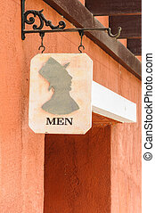 Men's public toilet sign
