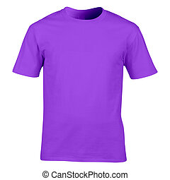 Men's purple t-shirt isolated on white