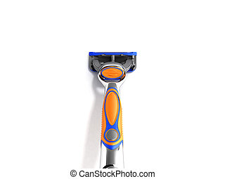 Mens razor 3d render on white background