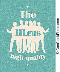 Mens. Retro poster