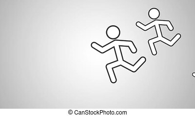Mens running pictogram HD definition - Mens running...