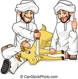 Mens Sacrifice Goat - High Quality Muslim Mens Cartoon...