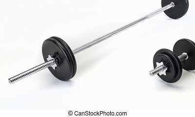 Mens Set of Weights - Male iron free weights for manual...