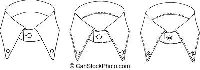 Men's Shirt Collars - A man's shirt collar with 3 levels of ...