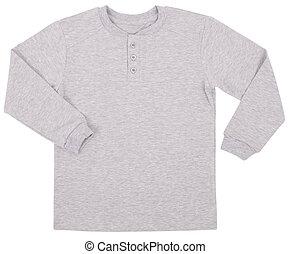 Mens shirt isolated on white background.