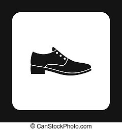 Mens shoe icon, simple style