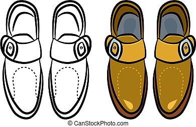 mens shoes - a pair of generic style male shoes