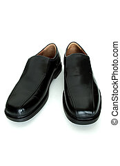 Men's Shoes - A Pair Of Men's Black Dress Shoes Isolated On ...