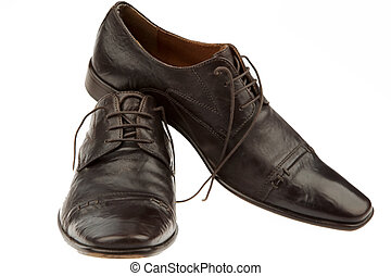 Men's shoes of a businessman - Dark school of a businessman....