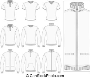 Men's short and long sleeve clothes. - Men's short and long...