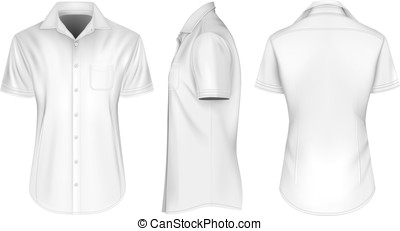 Mens short sleeve shirts with open collar