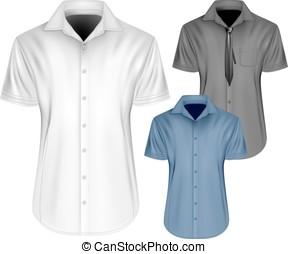 Men's short sleeved formal button down shirts