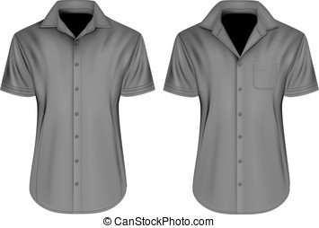 Mens short sleeved shirts with open collars