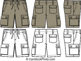 Mens Shorts In Different Side View
