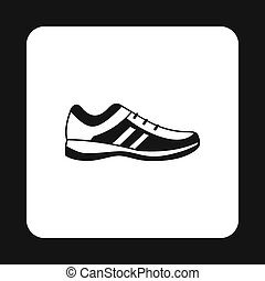Mens sneakers icon, simple style