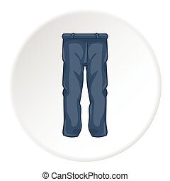 Mens sport pants icon, cartoon style