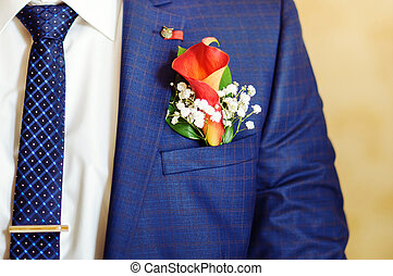 Mens suit and tie for businessman